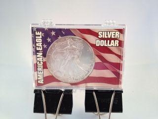 United States Silver Dollar,  2001 - W.  999 Silver In Plastic Case photo