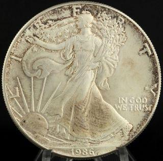 1986 American Silver Eagle - 1oz.  999 Fine Dollar Ase Investment Coin Usa photo