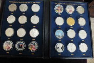 Unique 24 Silver American Eagle Dollars Commemorative Colorized photo