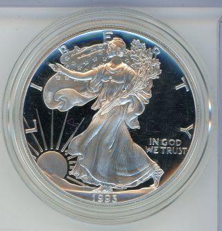 1993 American Eagle Proof Silver Dollar U.  S.  - 1 Oz Troy - S1s Ki96 photo