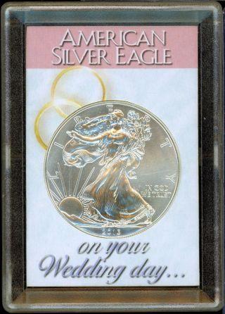 Newlyweds 2013 American Eagle.  999 Silver Dollar - 1 Oz Troy Wedding Coin - S1s photo