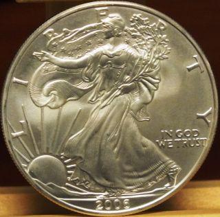 2006 American Eagle.  999 Fine Silver Dollar Coin - 1 Oz Troy - S1s Ka782 photo