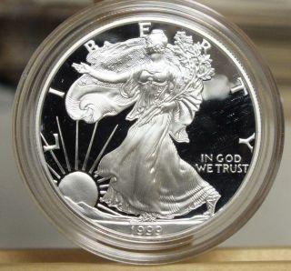 1999 American Eagle Proof Silver Dollar U.  S.  - 1 Oz Troy - S1s Kg201 photo