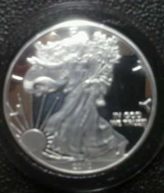2010 W American Silver Eagle Proof,  D.  C.  Mirror Finish,  W Marked,  Silver Bullion photo