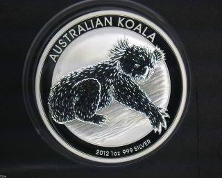 2012 $1 Australia Koala 1 Oz.  999 Silver Coin photo