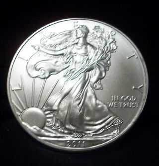 2011 1 Oz Silver American Eagle (brilliant Uncirculated) photo