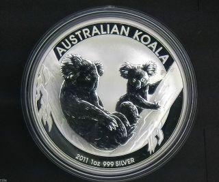 2011 $1 Australia Koala 1 Oz.  999 Silver Coin photo