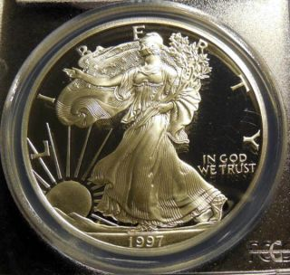 1997 - P Silver Eagle Pcgs Pr70cam photo
