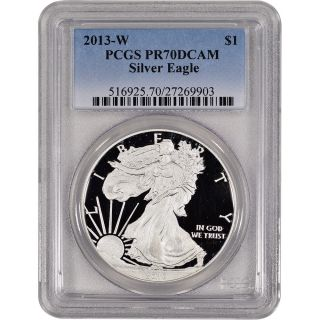 2013 - W American Silver Eagle Proof - Pcgs Pr70 Dcam photo