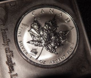 1998 Canada One Ounce 999 Silver Maple Leaf With Titanic Privy Mark photo