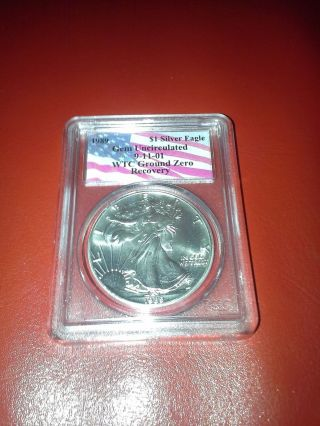 1989 Uncirculated - 9 - 11 - 01 Silver Eagle Wtc Ground Zero Recovery photo