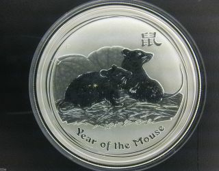 2008 $1 Australia Lunar Series Ii Year Of The Mouse 1 Oz.  999 Silver Coin photo