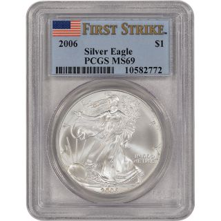 2006 American Silver Eagle - Pcgs Ms69 - First Strike photo