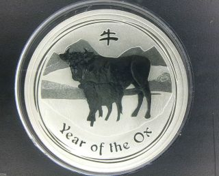 2009 $1 Australia Lunar Series Ii Year Of The Ox 1 Oz.  999 Silver Coin photo