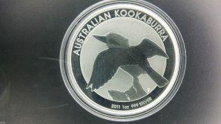 2011 $1 Australia Kookaburra 1 Oz.  999 Silver Coin photo