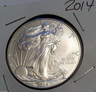 2014 1 Troy Oz.  999 Fine Silver American Eagle $1 Coin photo