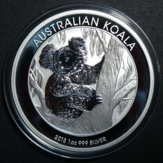 2013 - 1 Oz Australian Koala Perth Brilliant Uncirculated Fine Silver Coin photo