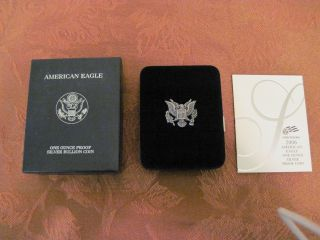 2006 - W 1 Oz Proof Silver American Eagle (w/box &) photo