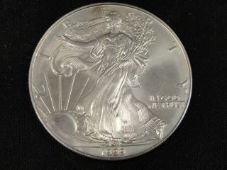 1999 American Silver Eagle Bullion Coin Key Date Uncirculated Nr photo