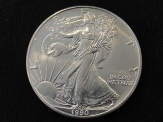 1990 American Silver Eagle Bullion Coin Key Date Investment Grade 1 Oz Silver photo