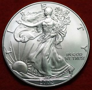Uncirculated 2002 American Eagle Silver Dollar photo