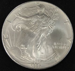1995 American Silver Eagle Bullion Coin Key Date Uncirculated Nr photo