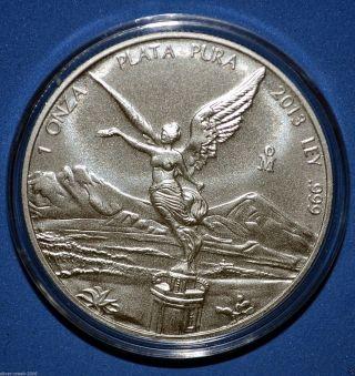 2013 Mexican Libertad 1 Oz.  999 Pure Silver Coin Brilliant Uncirculated photo