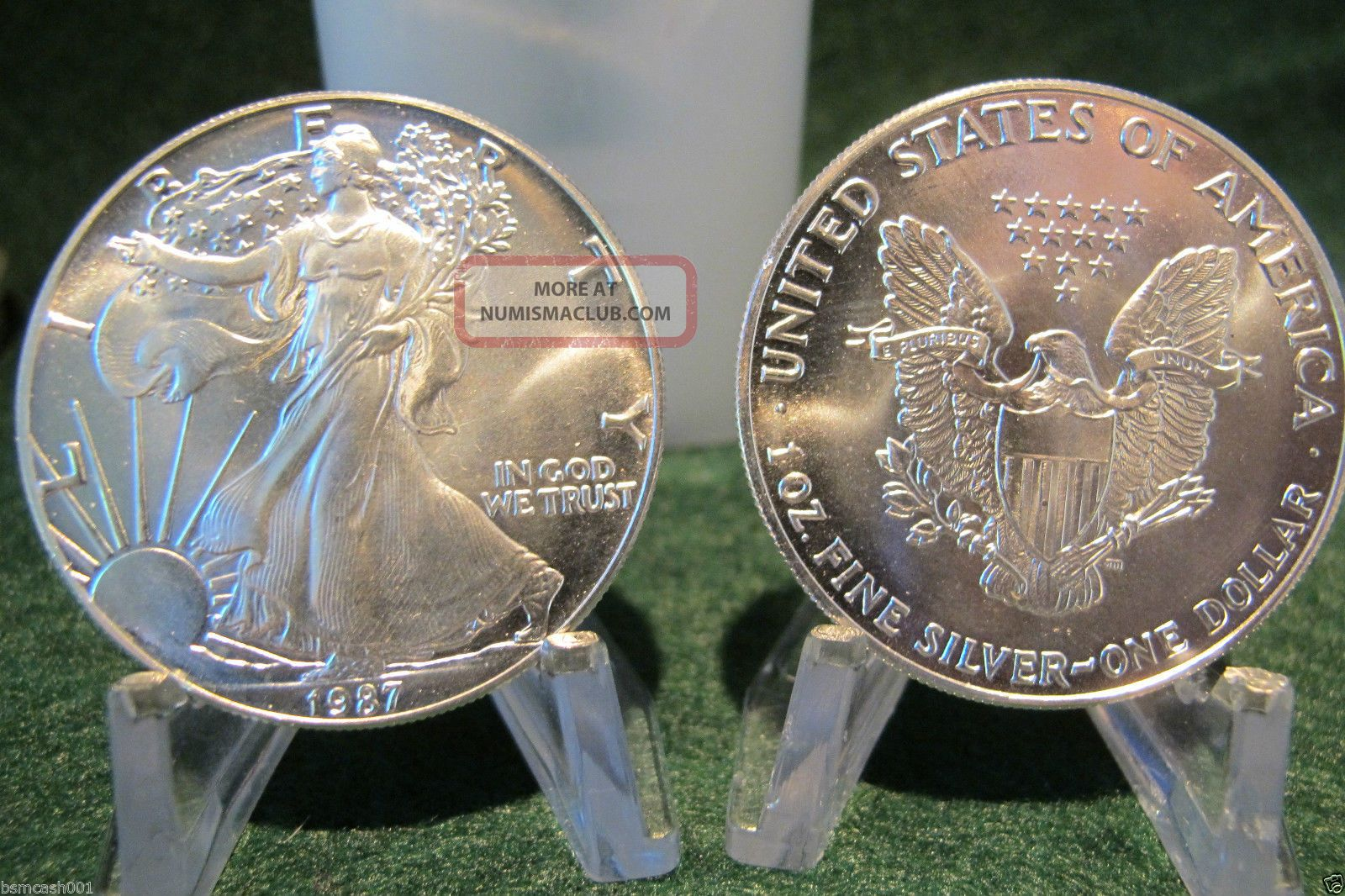 1987 American Silver Eagles Silver Coin One Troy Ounce