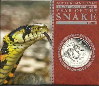 2013 1 Oz Proof Silver Australian Lunar Year Of The Snake And photo