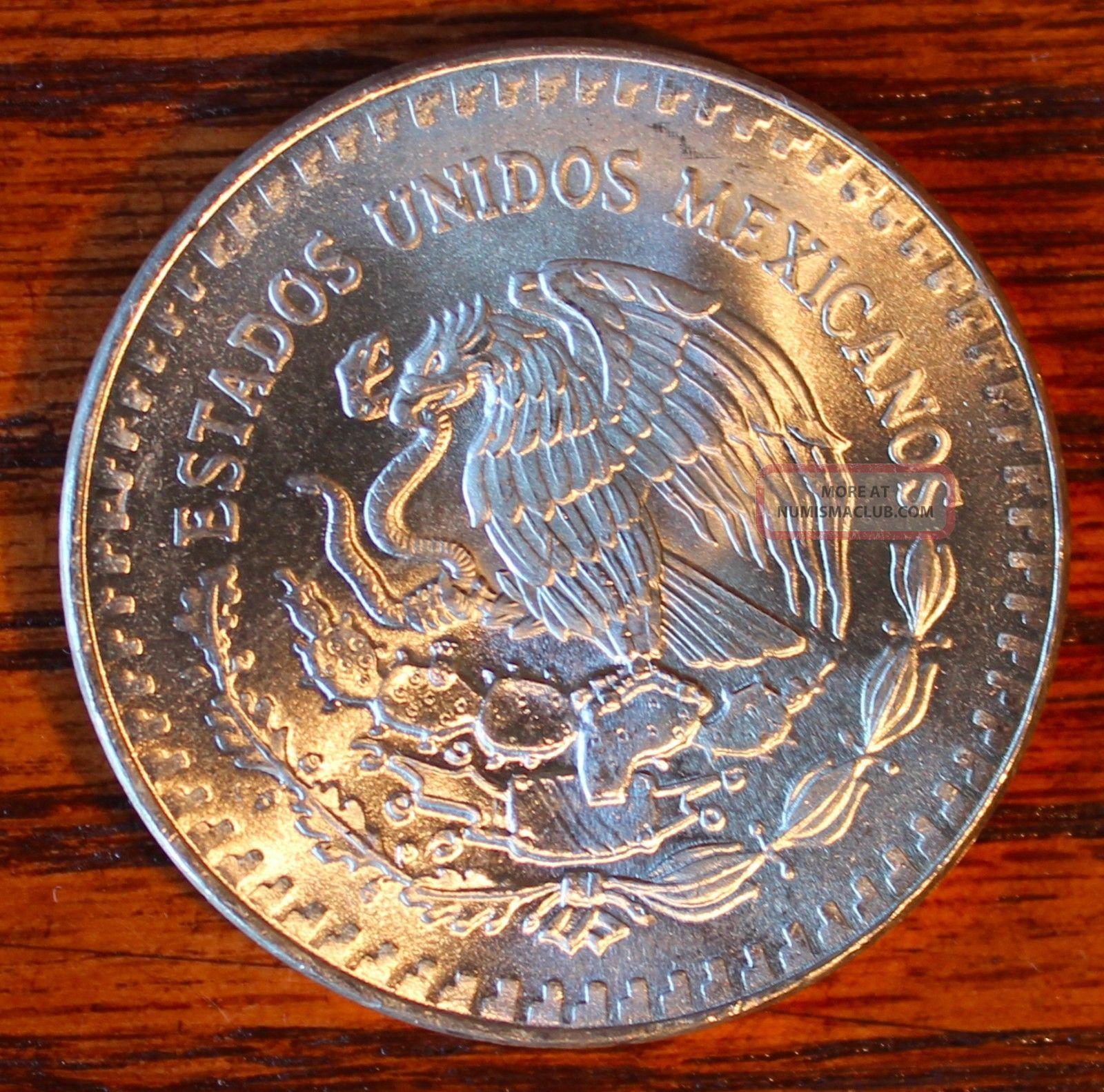 1984 Mexico 1 Ounce Plata Pura 999 Silver Libertad