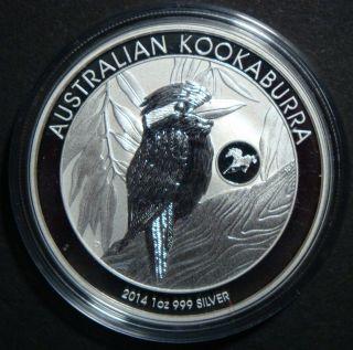 2014 - 1 Oz Kookaburra Horse Privy Australia Perth Bullion Fine Silver Coin photo