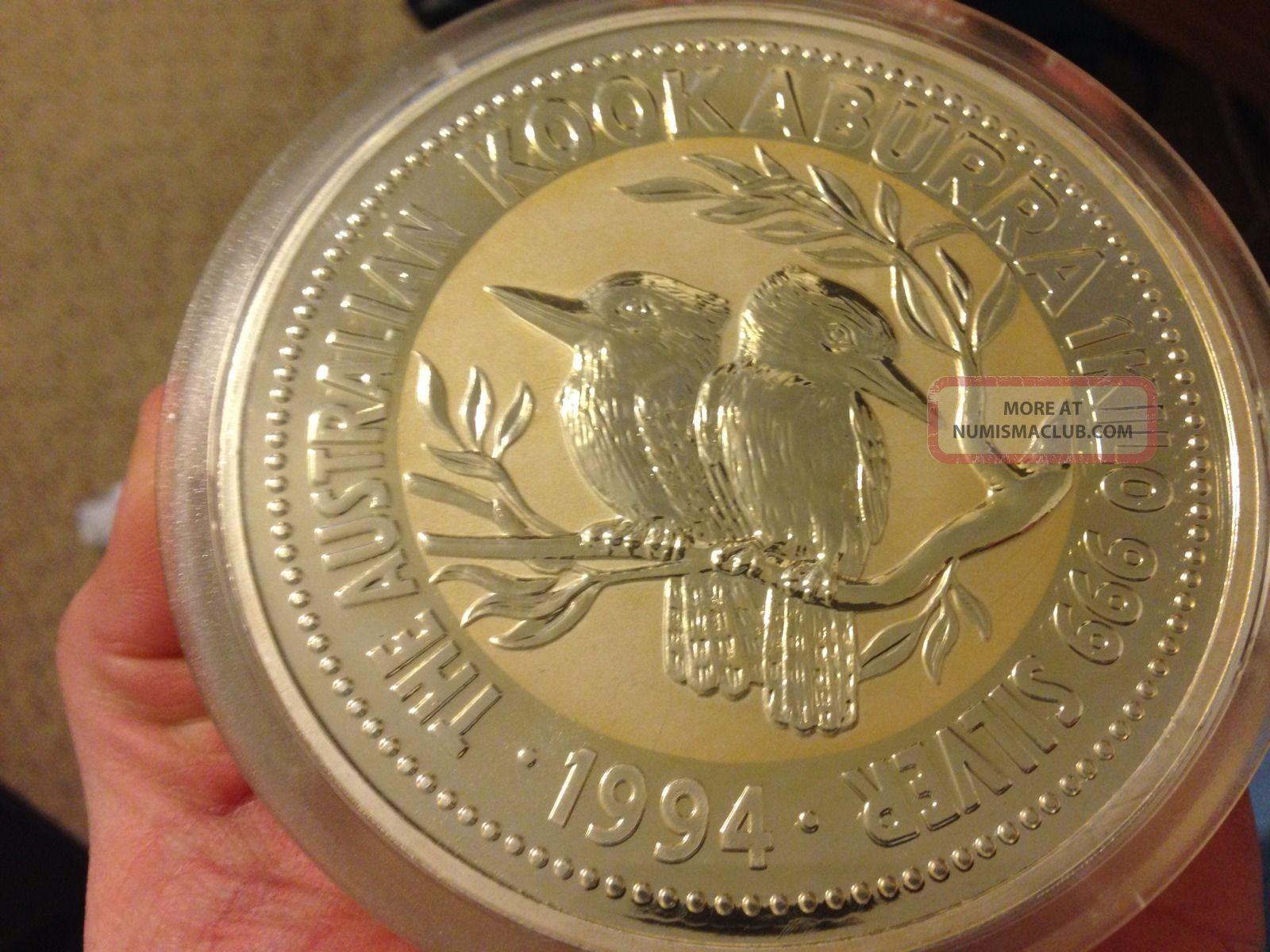 1994 30 Australian Silver Kookaburra Kilo Coin 999