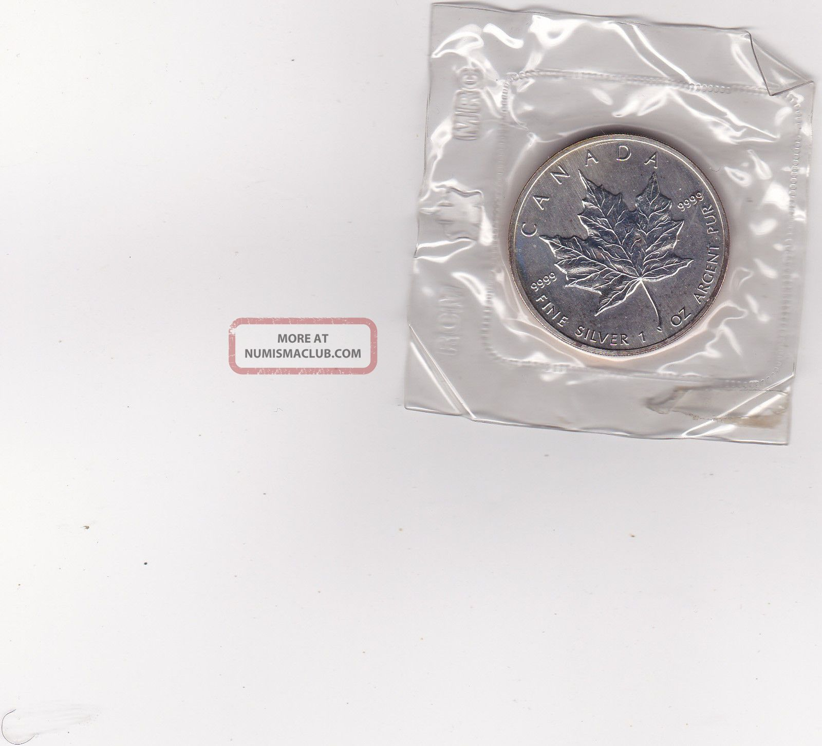 1989 Canada Maple Leaf Coin 1 Oz Silver One Troy Ounce