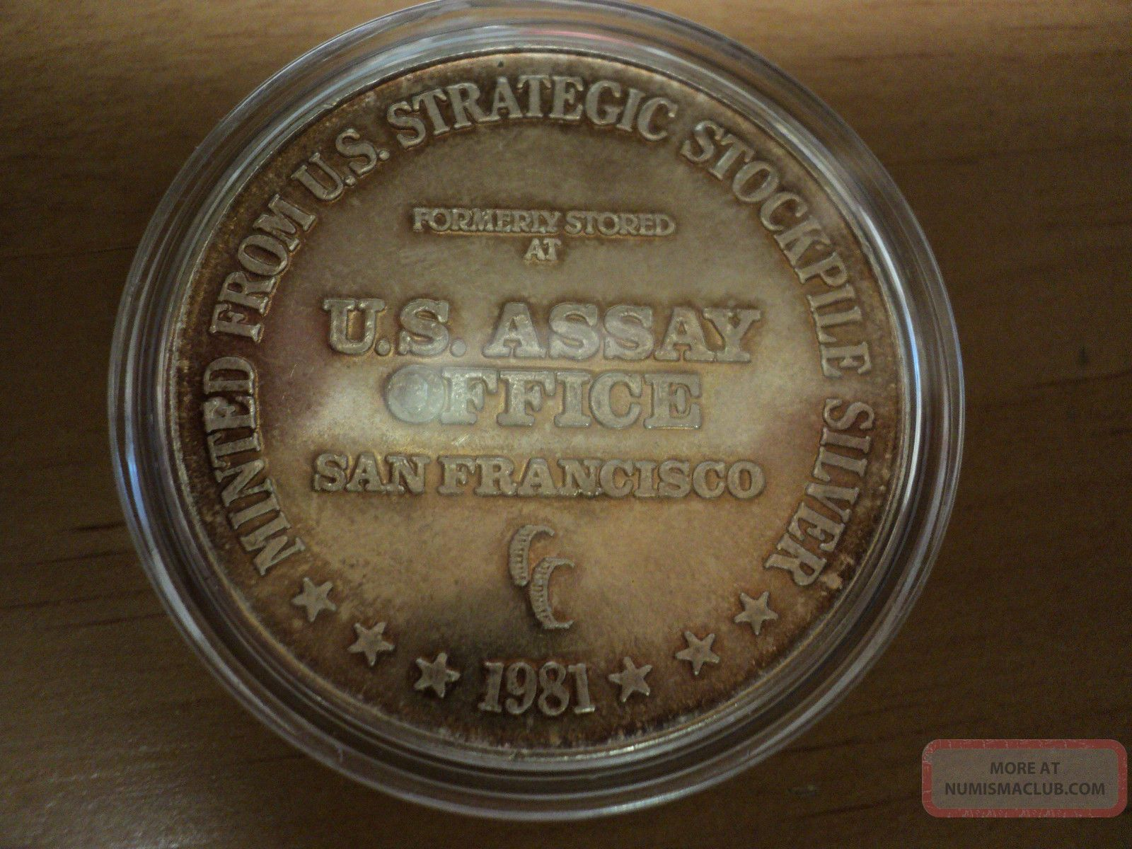 1981 U S Assay Office San Francisco One Troy Ounce