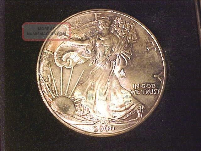 2000 Millennium Gem 999 Silver Eagle Silver Dollar Coin In