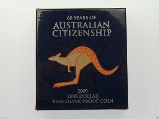 Australian 2009 $1 Fine Silver 60 Years Of Australian Citizenship Proof Coin photo