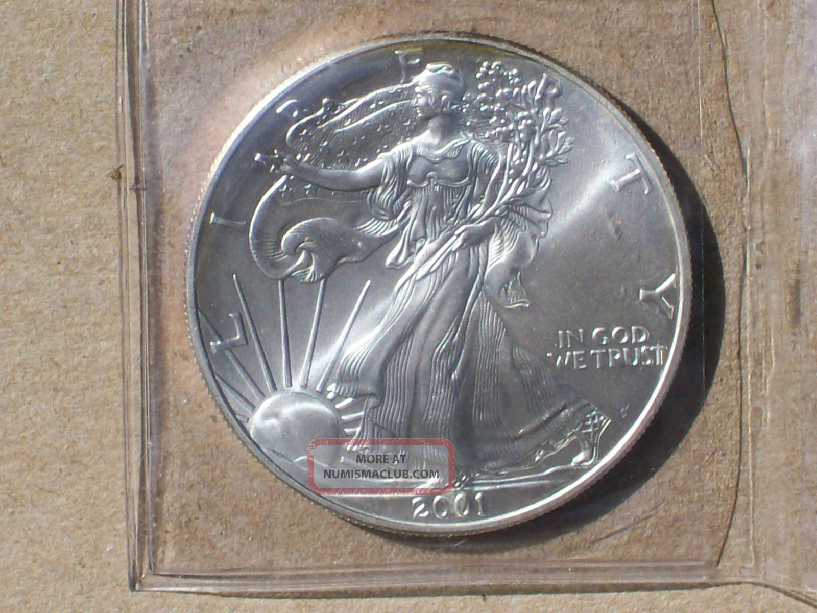 Uncirculated Pristine 2001 Walking Liberty 1 Oz Fine