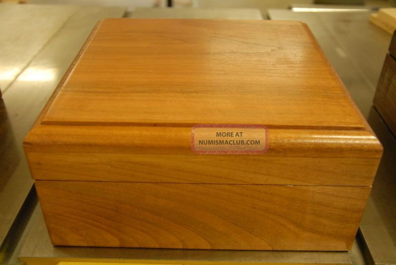 Solid Cherry 48 Slabs Storage Coin Box For Pcgs