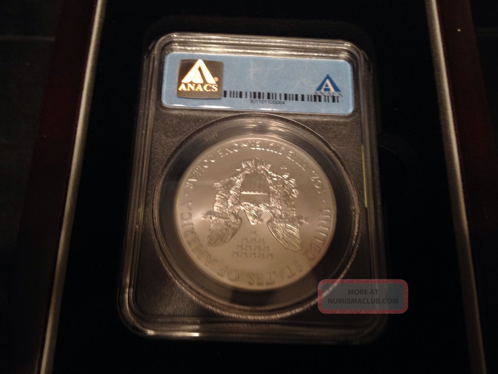2013 W Silver Eagle Anacs Certified Sp70