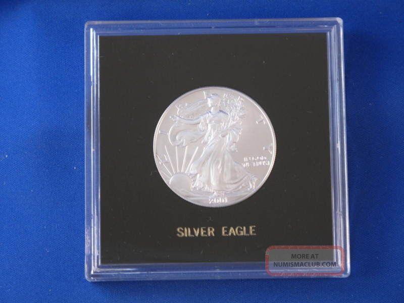 2001 American Silver Eagle Dollar U S Coin B2944