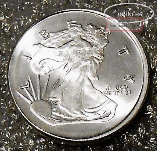 Walking Liberty Silver Round Unc 1 4 Troy Oz 999 Fine
