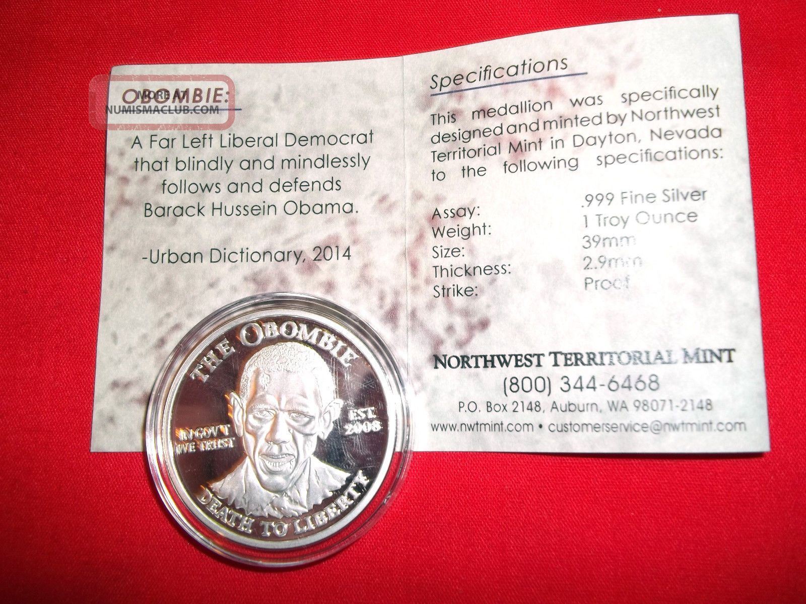 1 Troy Ounce 999 Fine Silver Round The Obombie Design