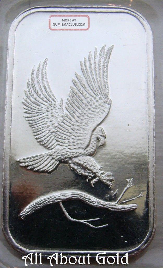 Solid Silver Bar 1 Troy Oz Silvertowne 999 Fine Bald