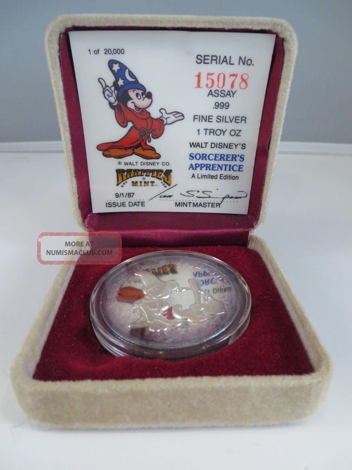 1987 Walt Disney S Sorcerer S Apprentice 999 Fine