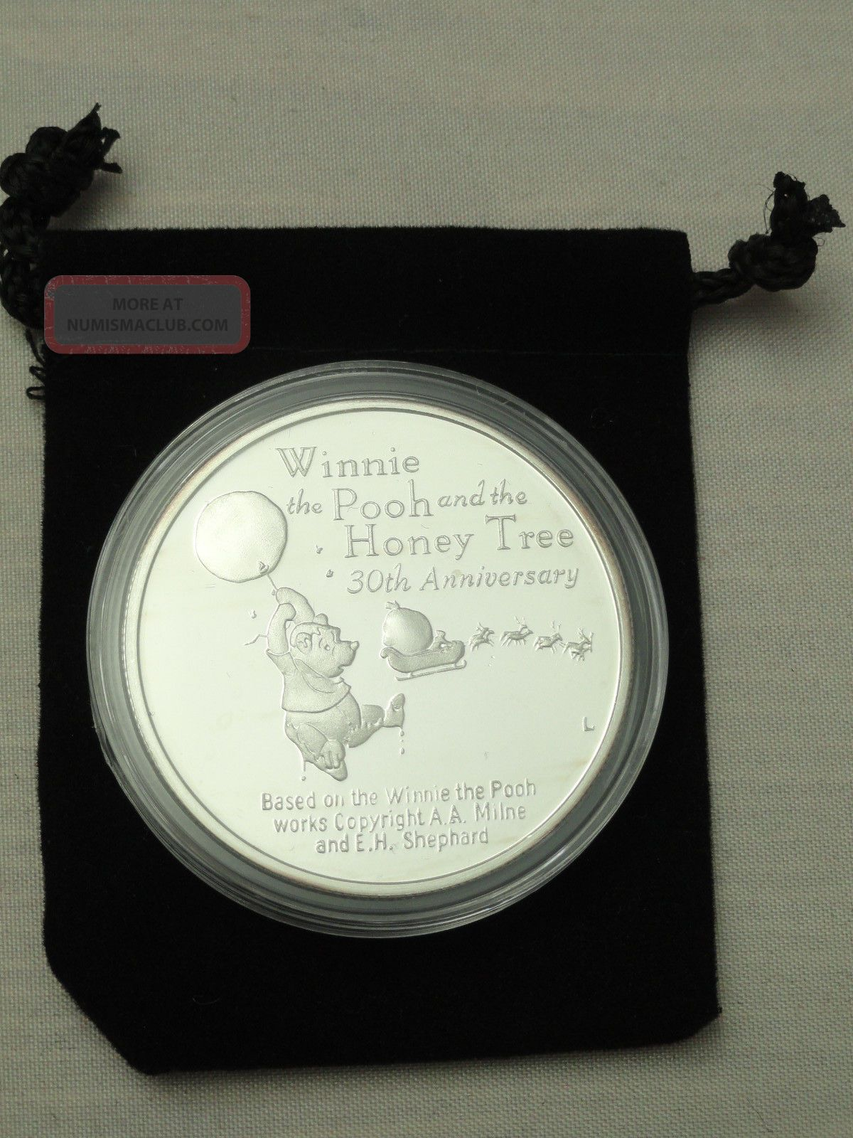 Walt Disney Winnie The Pooh 1 Oz Proof 999 Pure Silver