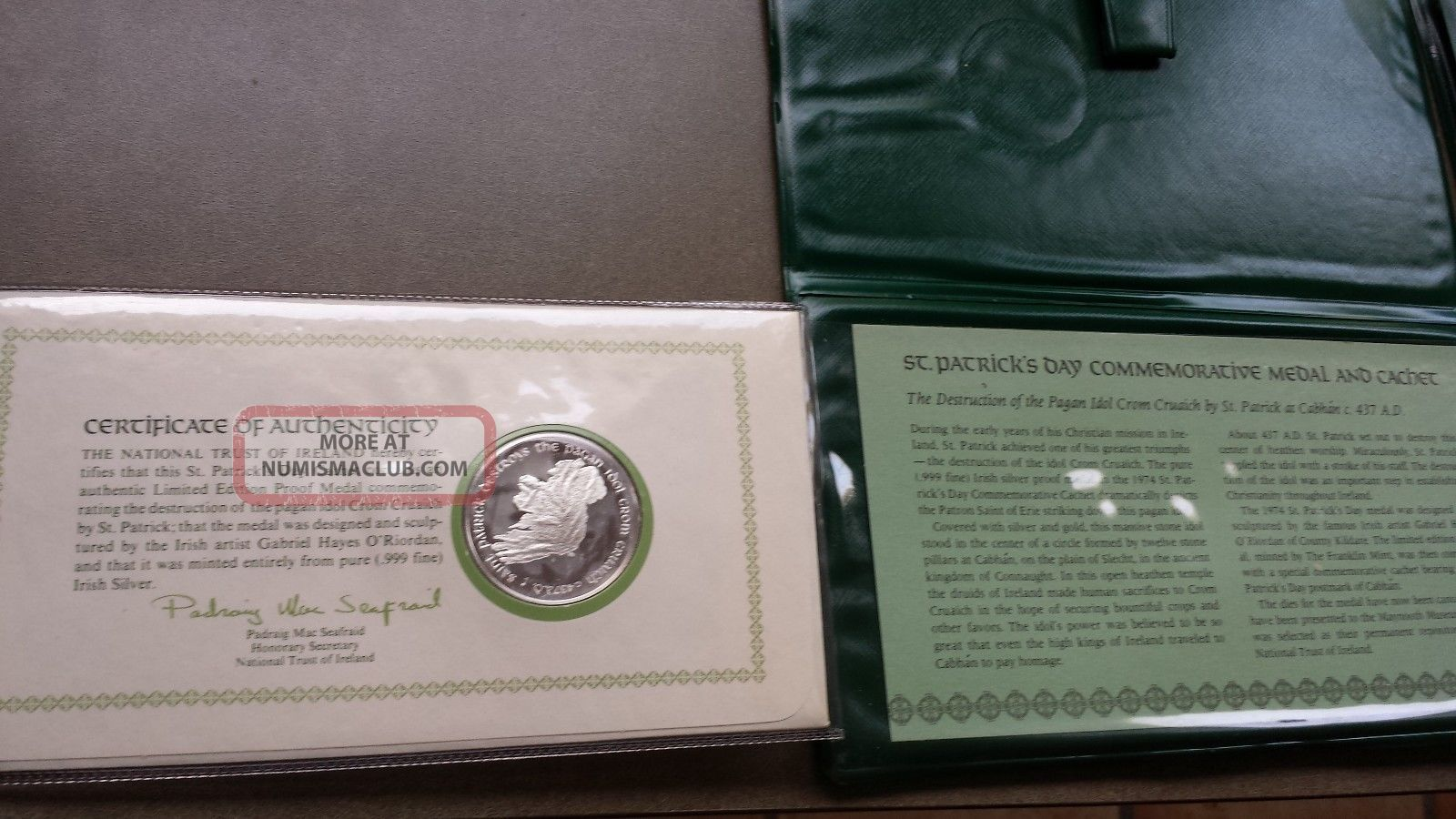 Pure Irish Silver 1974 St Patrick S Day Commemorative