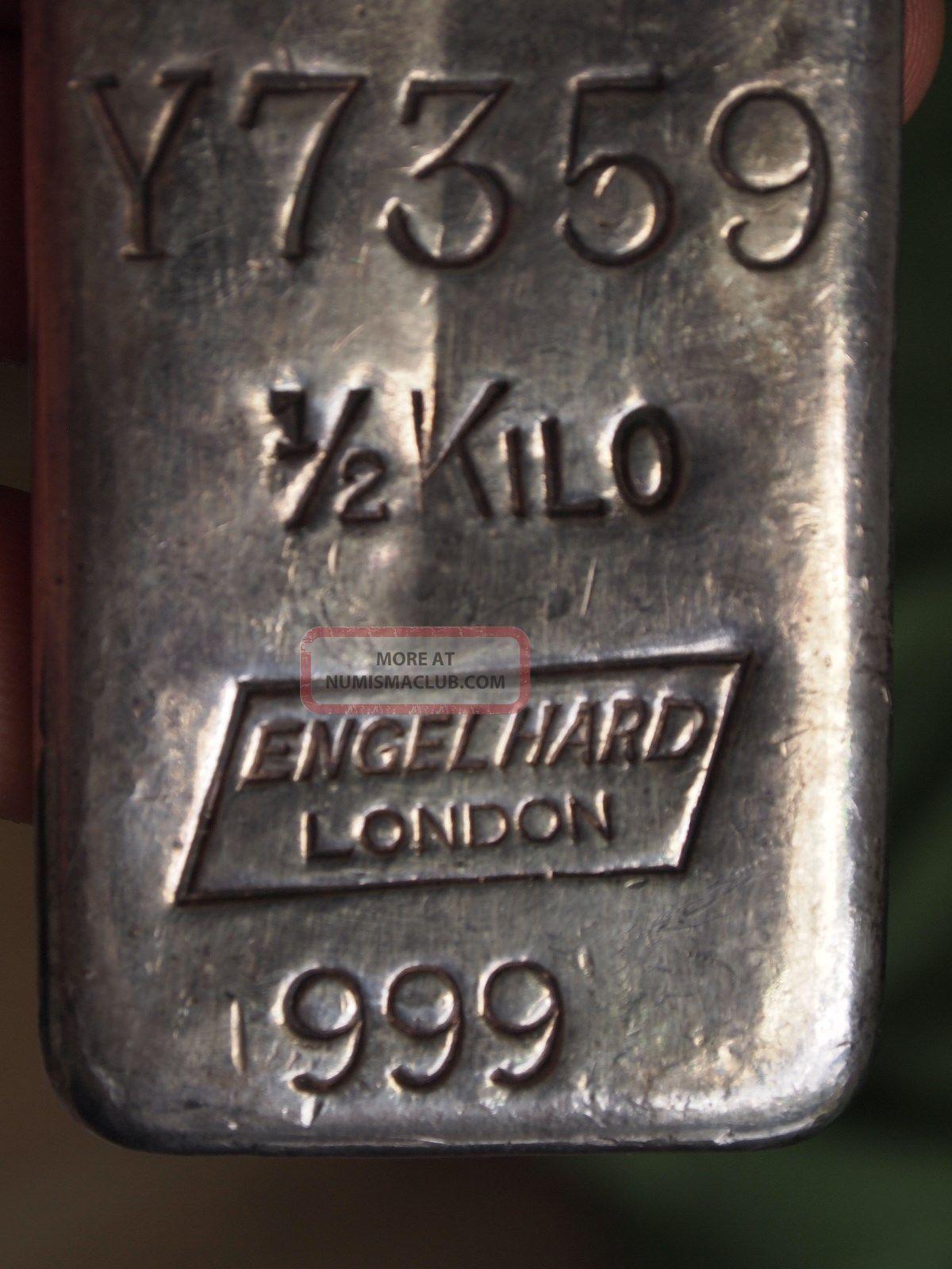 Engelhard London 189 Kilo Old Pour Silver Bar 999 1000 Rare