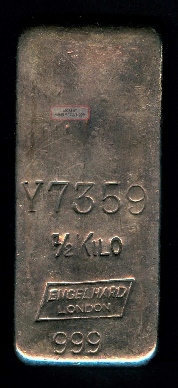Engelhard London 189 Kilo Old Pour Silver Bar 999 1000 Rare