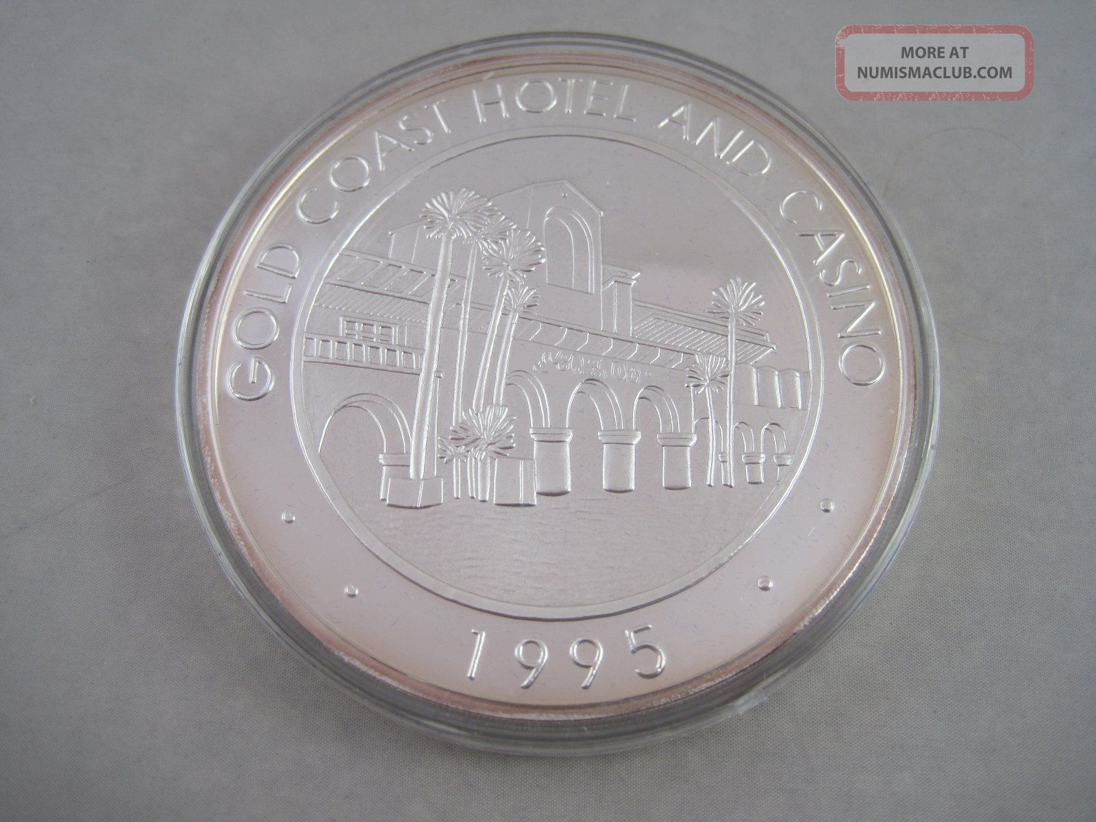 1995 Limited Edition Gold Coast Hotel Amp Casino 1 Troy Pound 999 Silver Coin
