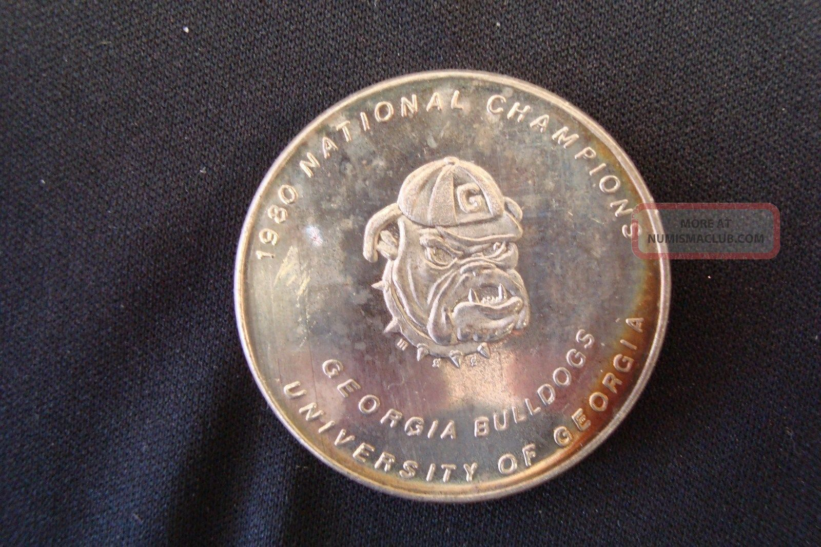 Uga Georgia Bulldogs 1980 National Champions 1 Oz 999